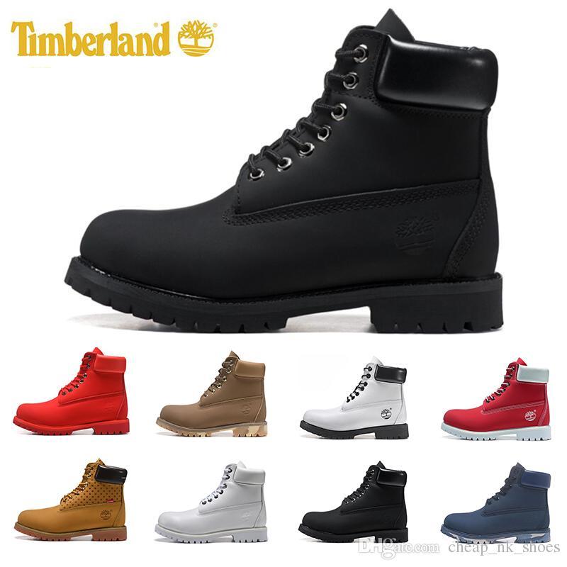 2a1086aad944 Acheter 2019 Timberland Designer De Luxe TBL Bottes 10061 Classique Pour  Hommes Femmes Top Qualité Noir Blé Armée Vert Mens Hiver Bottes De Travail  ...