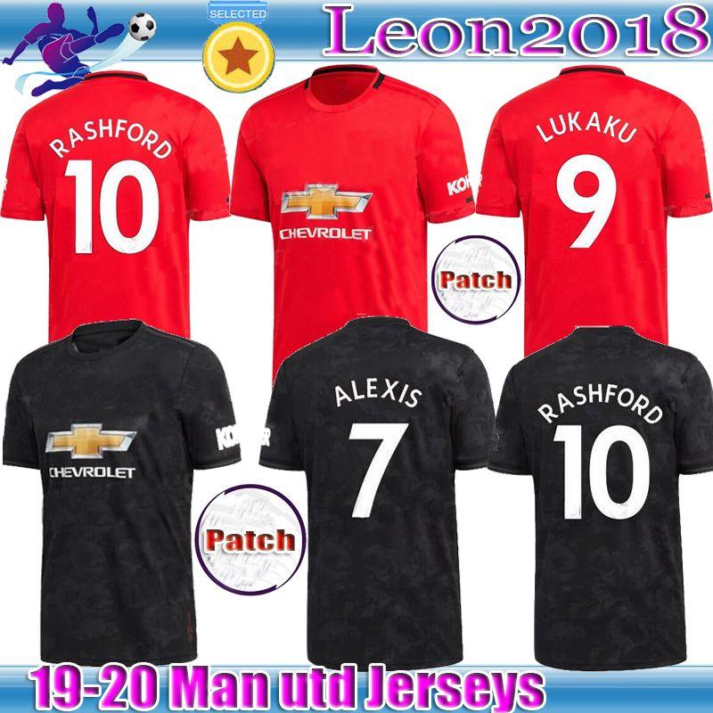 check out 60a60 20a93 Thai quality 19 20 POGBA jerseys 2019 2020 MAN LUKAKU RASHAFORD Sanchez  ALEXIS United soccer shirt MARTIAL UTD football jerseys