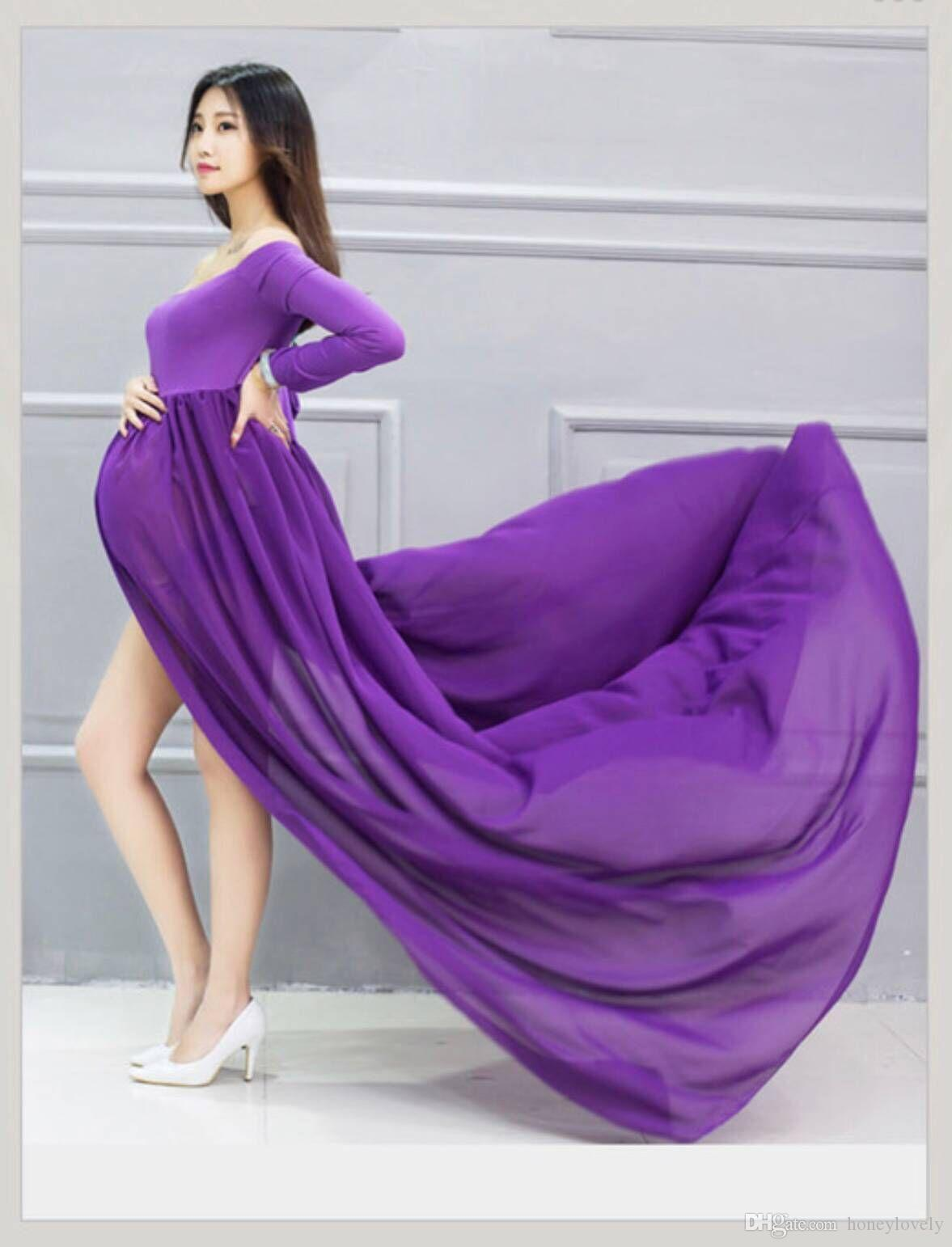 0e591072e7c59 Aliexpress Ebay's New studio maternity dress photo dress maternity  photography chiffon floor-length skirt euro-american style dress