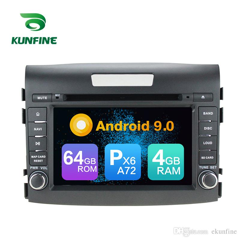 Android 9.0 Core PX6 A72 Ram 4G Rom 64G Car DVD GPS Multimedia Player Car Stereo For HONDA CRV Radio Headunit
