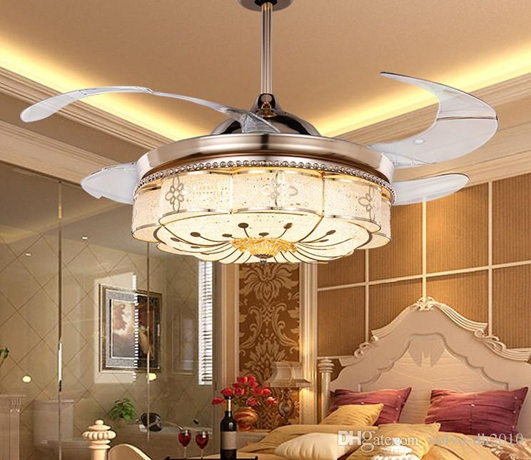 Lüfter Schlafzimmer | Grosshandel Unsichtbare Deckenventilatoren Wohnzimmer Fernbedienung