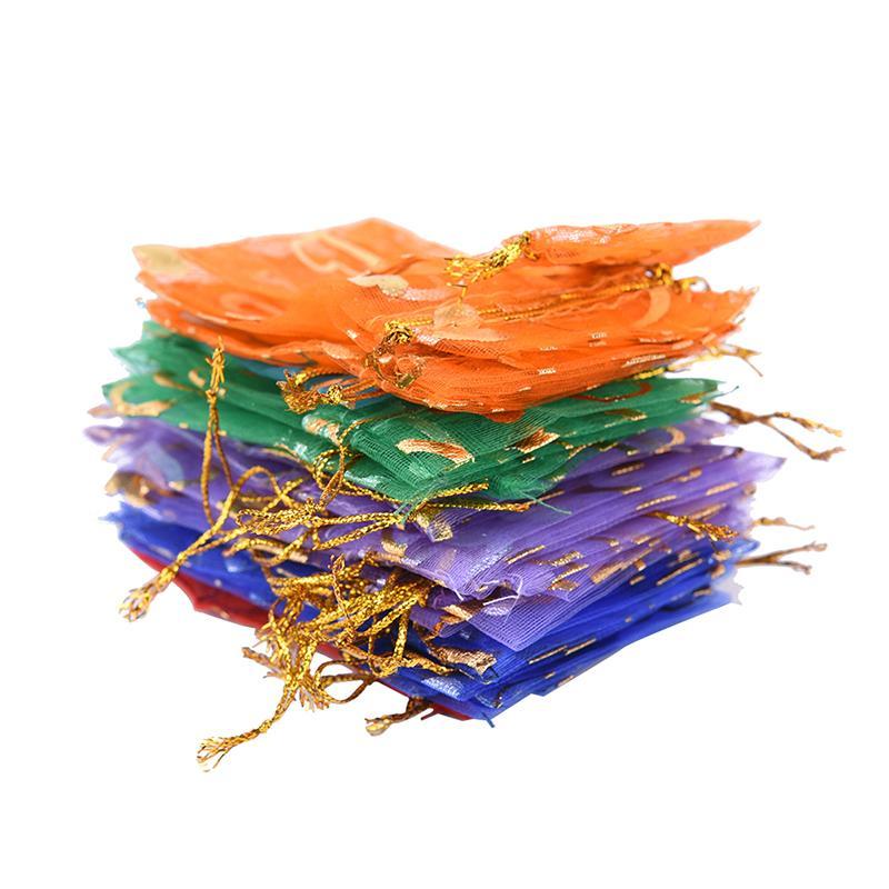 2019 Hot / Organza Colorido Embalagem Bolsa de Sacos de Cordão Transparente Recipiente Presente Do Presente Jewerly Organizador Sacos