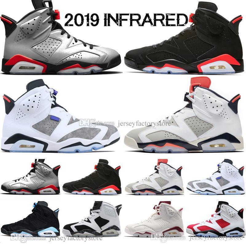479c9133 In Stock 2019 Bred VI 6 6s Mens Basketball Shoes Infrared 23 3M Reflective  Tinker Gatorade Green Red Blue Men Sport Sneaker Designer Trainer Basketball  ...