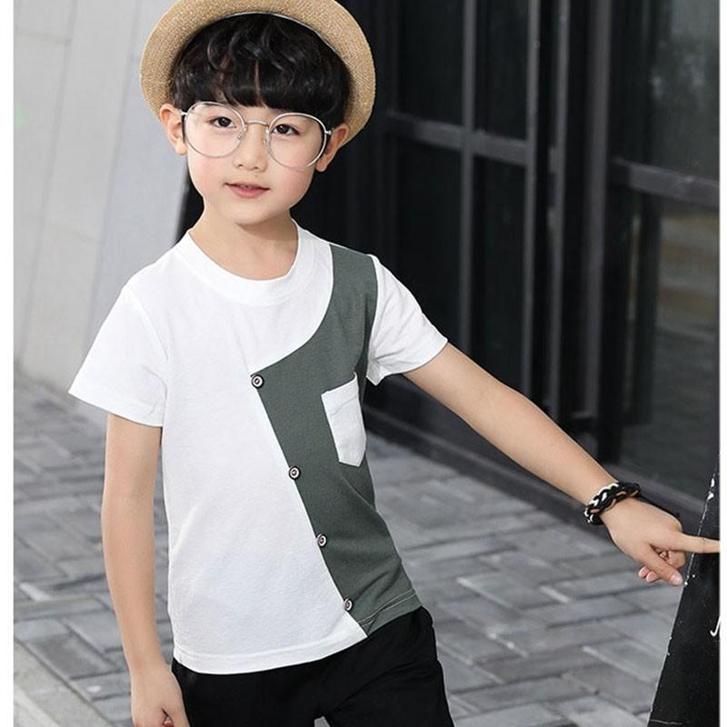 c9ef95ba5 2019 Teenage Boys Sport Suits Kids Patchwork T Shirts Tops & Calf Length  Pants Clothing Sets Children Summer Outfits Boys Suits From Newyearable, ...