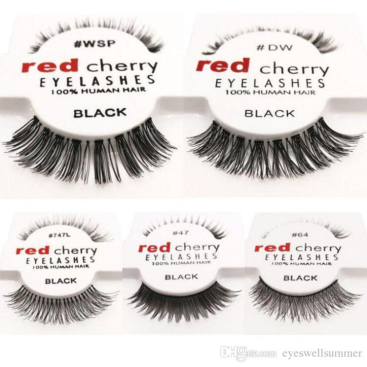 Red Cherry 100 Human Hair Eyelashes Wsp Lashes Handmade False