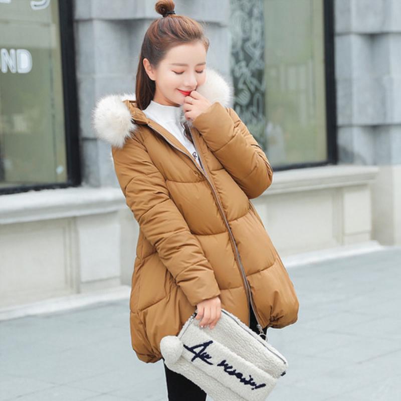 e26431b2c Parka Women Winter Coats Long Cotton Casual Fur Hooded Jackets Ladies Warm  Winter Parkas Female Overcoat Women Coat MF046