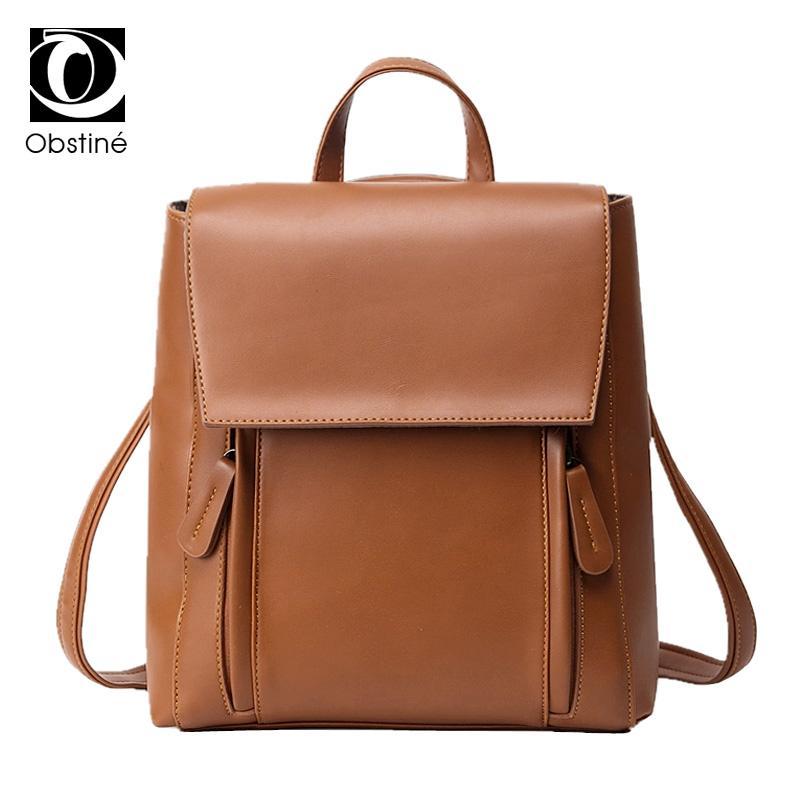 Nice Ocardian Backpack Shoulders Mochila Solid Bag Women Fashion School Leather Shoulder Bag Mini For Women Girls Jan10 Backpacks