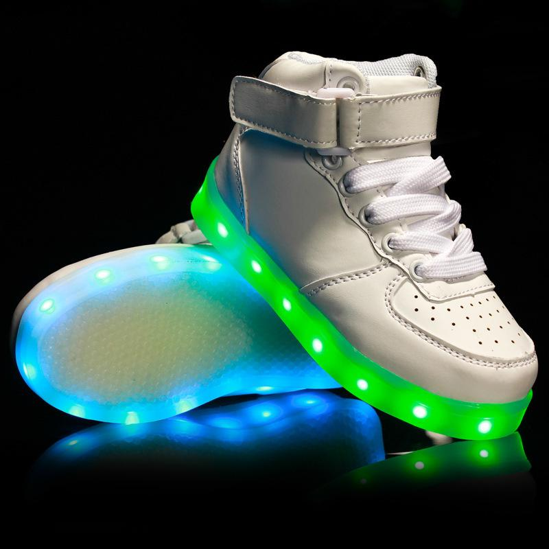a2c07fc989e78 Eur25 37 USB Charging Basket Led Children Shoes With Light Up Kids Casual  Boys Girls Luminous Sneakers Glowing Shoe Enfant Shoes And Boots For Kids  ...