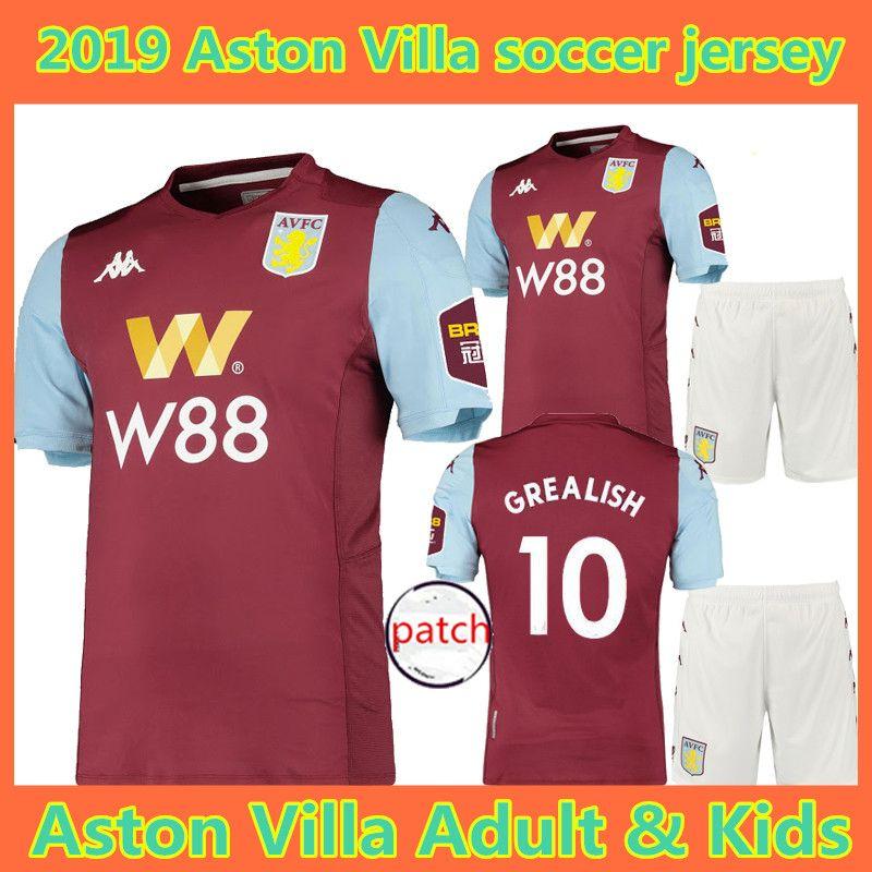 2020 19 20 Aston Villa Soccer Jersey 2019 2020 KIDS Wesley ...