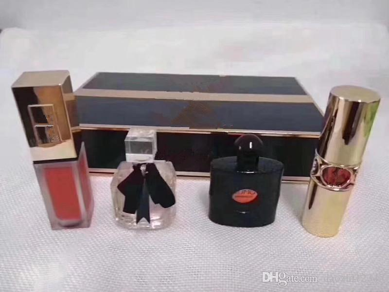 HOT Brand Y5L Matte Lipstick rouge a levre + Perfume 4pcs in 1 Luxury Makeup Set Fast Shipping