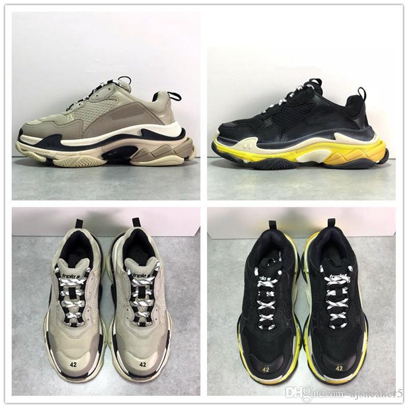 TOP Paris 17FW Triple-S Shoe Sneaker 2019 Luxury Dad Shoes Mens ... 01d2c08ee