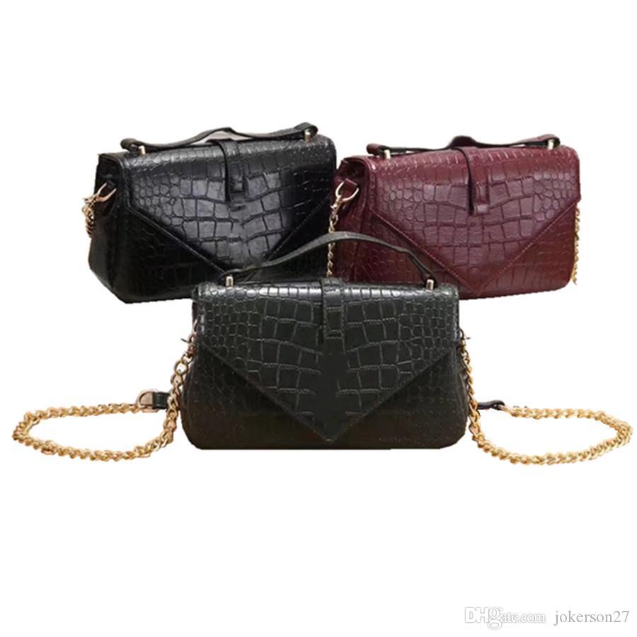 6f5ac198c18 Quality Women Bag Crocodile Pattern Composite Bag Vintage Women Messenger  Bags Shoulder Handbag Purse Wallet Leather Handbags Y3836# Brand Bags  Luxury Bags ...