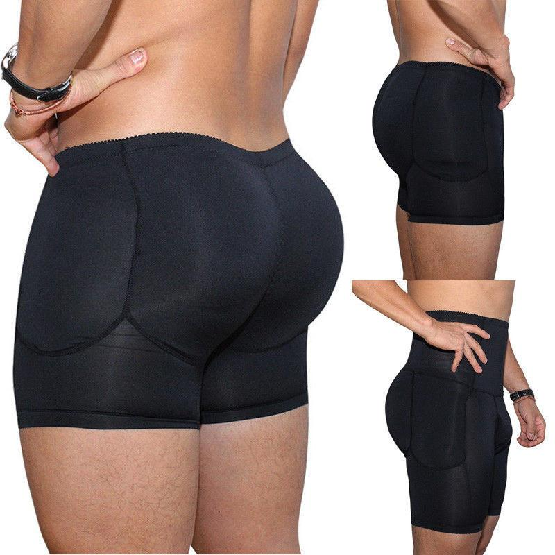 04144407ead 2019 Mens And Hip Enhancer Booty Padded Underwear Panties Body Shaper  Seamless Butt Lifter Panty Boyshorts Shapewear Boxers C19041801 From  Shen07