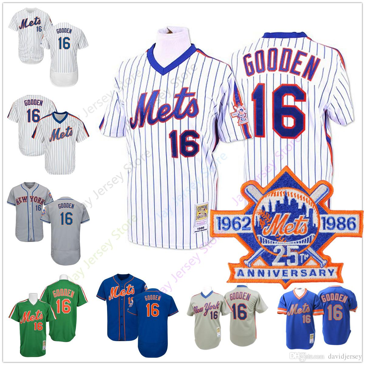 low priced d9213 69394 Dwight Gooden Mets Jersey Cooperstown Baseball New York Home Away White  Pinstripe Blue Men Women Youth Kid