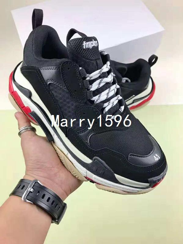 Gun Combination Bottom Hi-Street New Triple-S 17FW Shoe Man Woman Sneaker  AAA Quality Mixed Colors Thick Heel Grandpa Trainer Casual Shoes