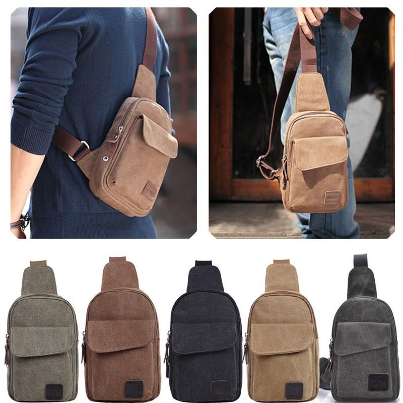 3a238c8a5b Men S Small Fanny Pack Sling Travel Hiking Cross Body Chest Bag Messenger  Shoulder Backpack Adjustable Messenger Bags For Men Leather Handbags From  ...