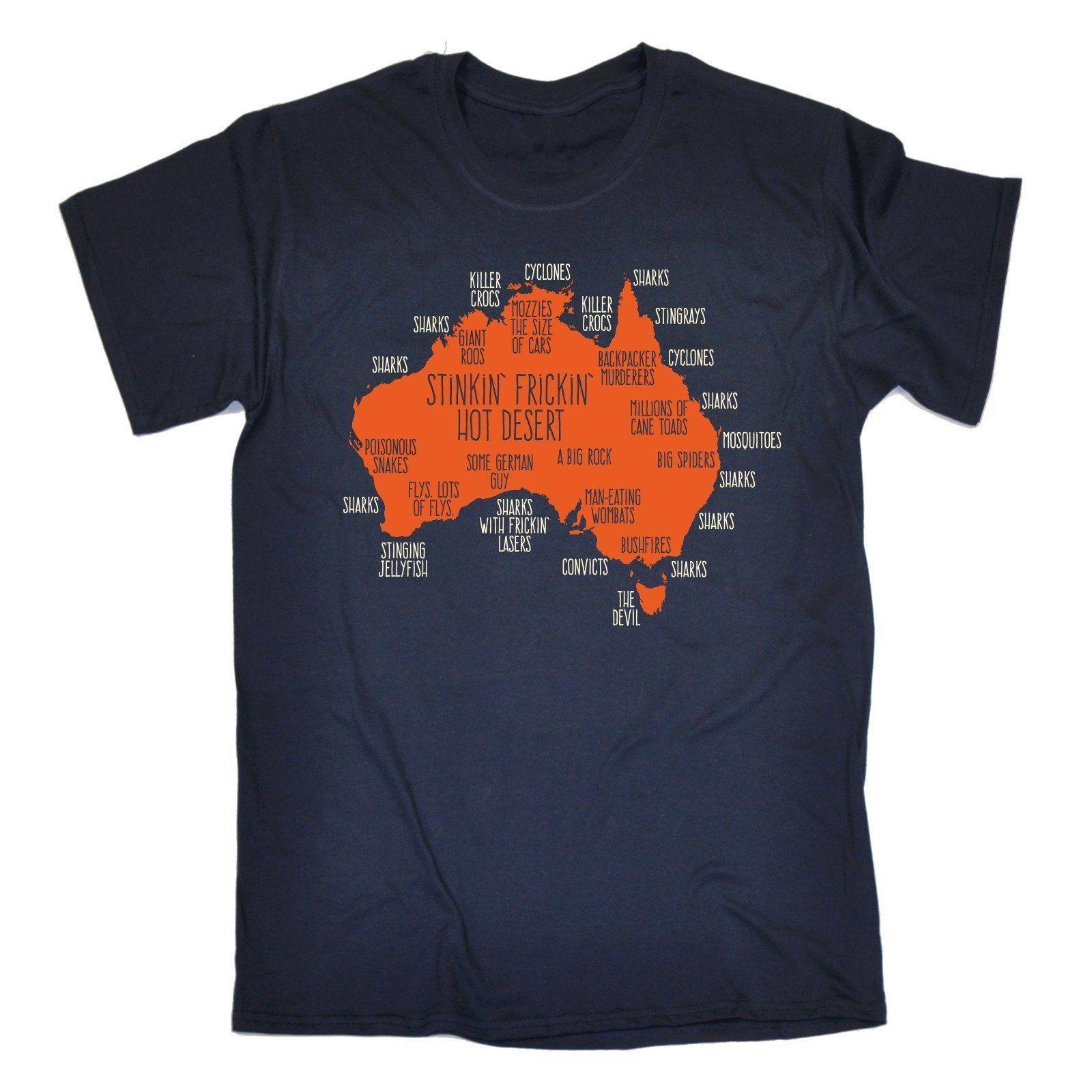image of a man wearing an Australian printed tshirt
