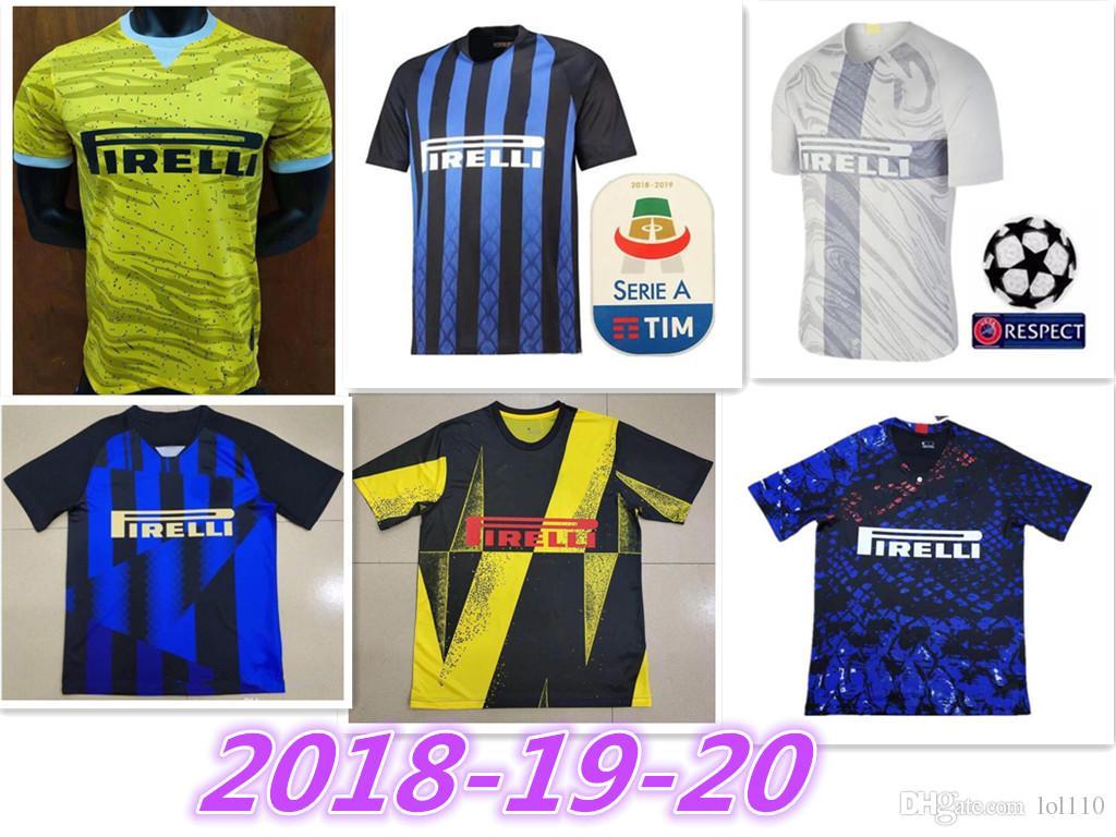 e4bbb2c3d 20 anniversary Inter jersey CANDREVA EDER ICARDI JOVETIC Milan home away  Kondogbia 2019-2020 Icardi sports 18 19 inter shirts