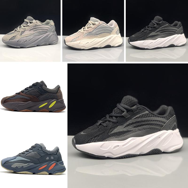 official photos 51386 591ad 2019 Kanye West 700 Boost Kids Running Shoes Boys Girls Sneaker BOOST 700  Sports Shoes Children Athletic Shoes Grey Black Blue With Box