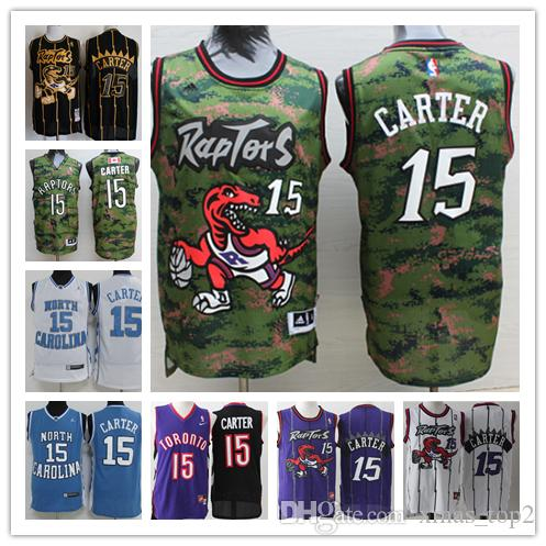 new arrival b8a56 6d945 Retro Mens Raptors 15 Carter Toronto Basketball Jerseys Stitched Raptors  Hardwood Classic Mesh Carter Retro North Carolina Jerseys