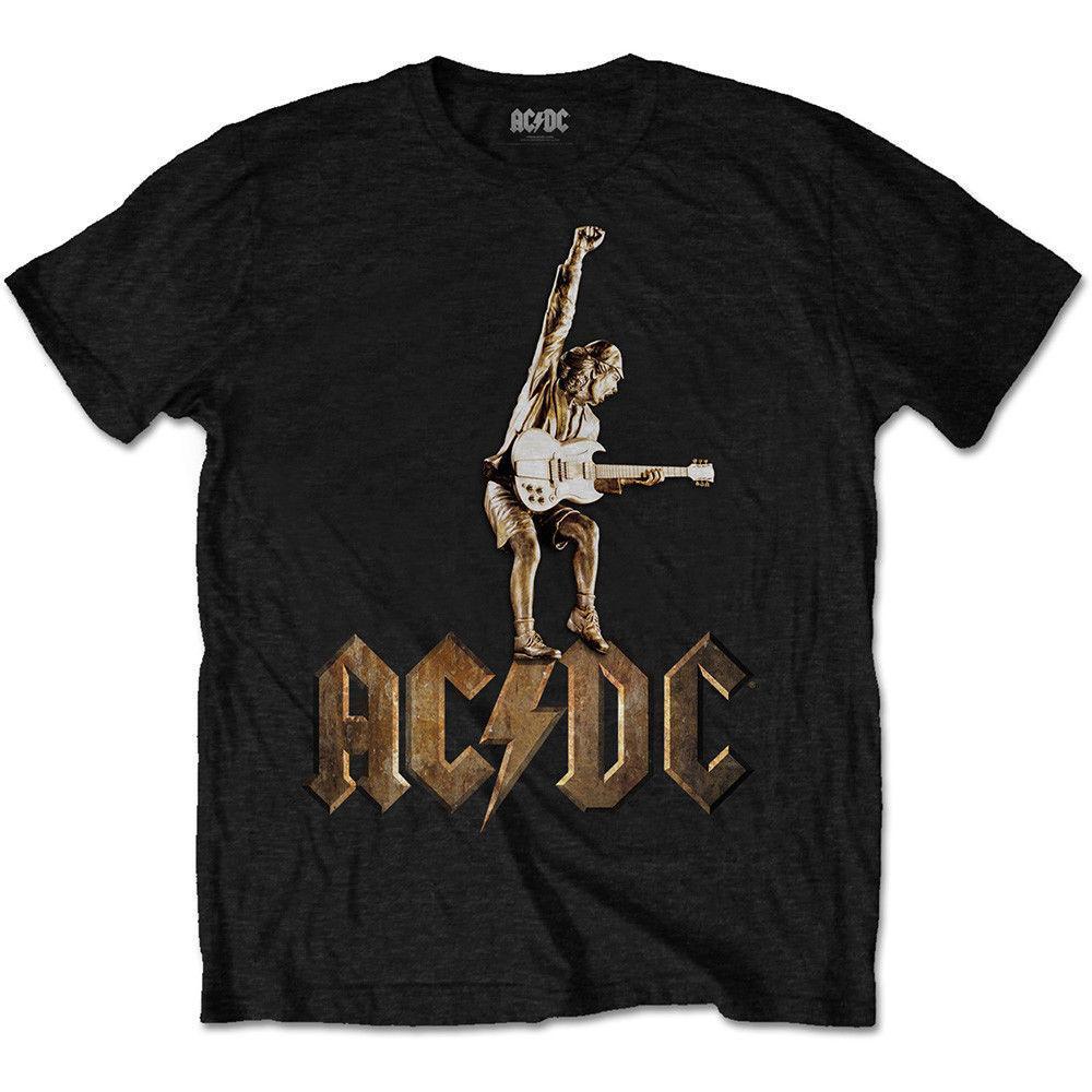 2a67107ec Compre Camiseta ACDC Angus Young Estatua Música Rock Officiel Hommes A   12.94 Del Jie039