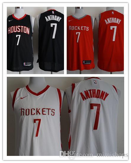 best website f7e44 43384 2019 New Men's Houston Carmelo Anthony Rockets Adult Basketball Jersey hot  sales