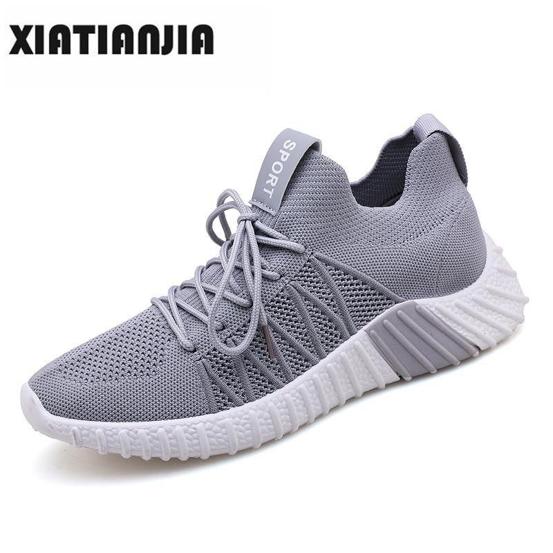 buy popular 395c0 181d6 2019 Sneaker Men Casual Lace Up Air Mesh Shoes Man Slip On Flats Light Soft Walking  Breathable Loafers Shoes Male Heren Schoenen Mens Boat Shoes Boat Shoes ...