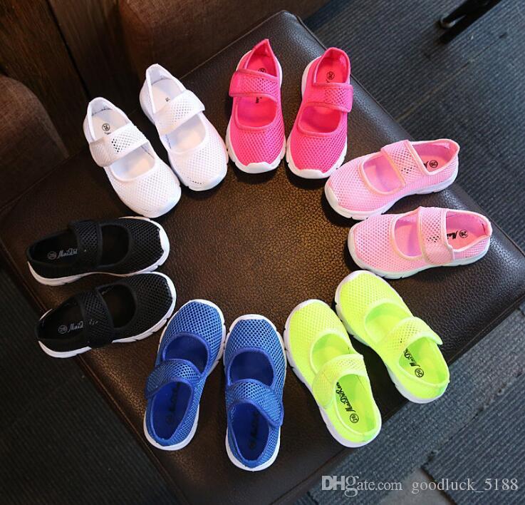 Reise Pedal Süßigkeiten Farbe Schuhe Netz Frühling Jungen Ein Und Kinder Outdoor Sommer Mädchen Einzelne Student Elastische 2019 jL534RA