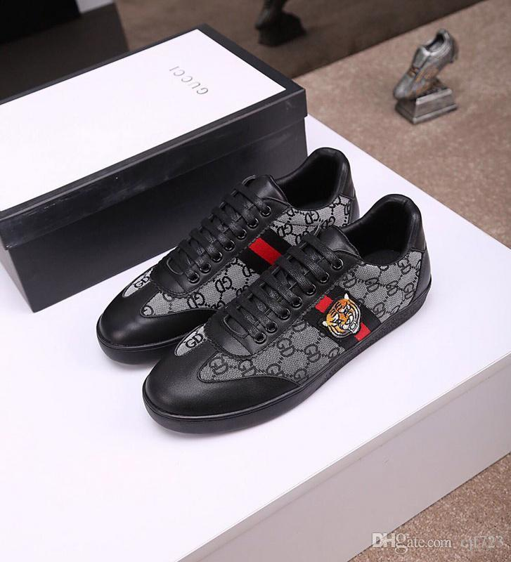 4484cec5375f Acheter 19ss Pas Cher De Luxe Designer Hommes Femmes Sneaker Casual  Chaussures Bas Top Italie Marque Ace Bee Stripes Chaussure Marche Sport  Formateurs ...