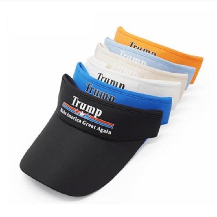 Donald Trump Empty Top Cap Keep America Great 2020 Visiera da baseball Cap Cotton Sport Berretto da viaggio da viaggio Beach Cappelli da sole DHL EFJ312