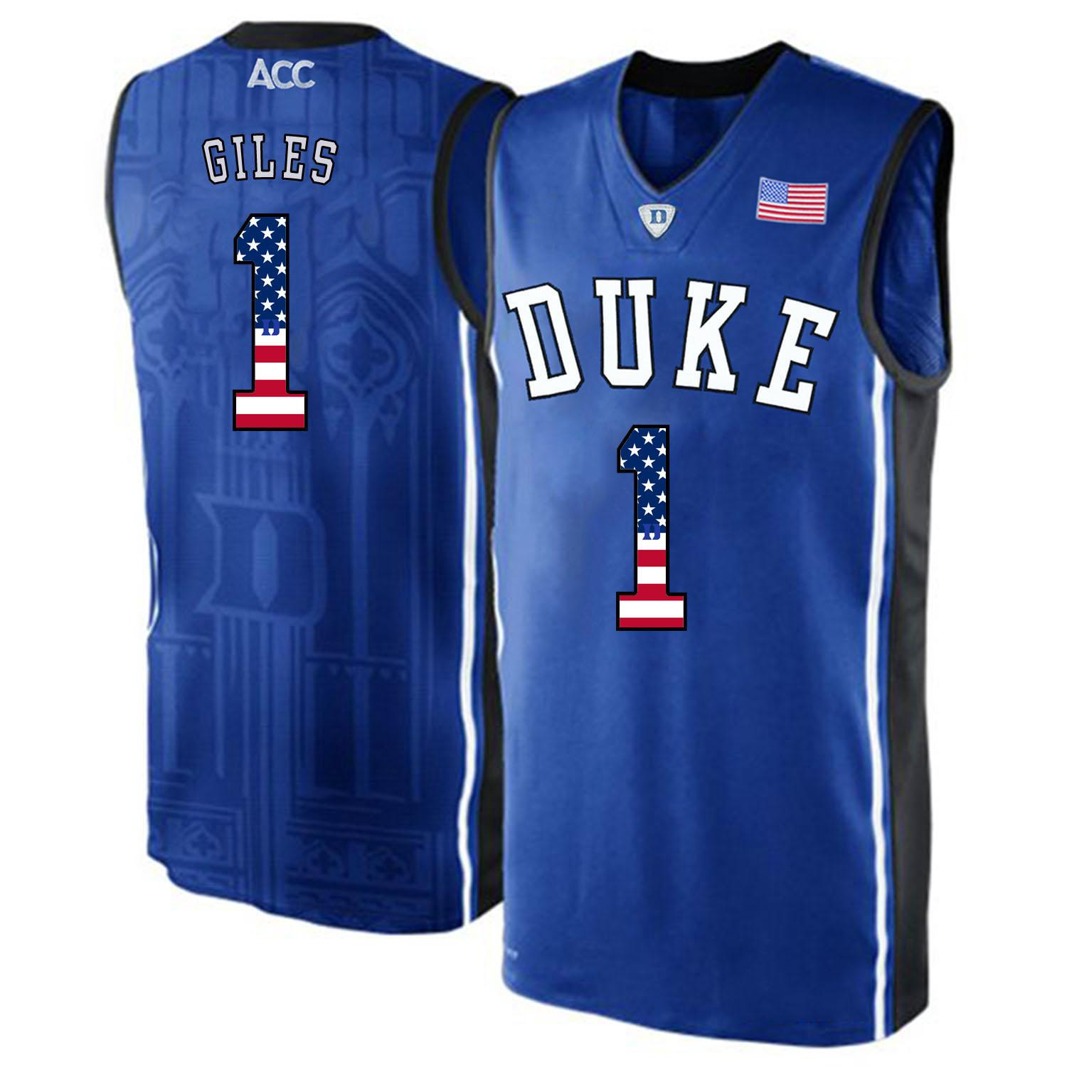313cc554c3d 2019 Mens Harry Giles Jersey Custom Duke Blue Devils College ...