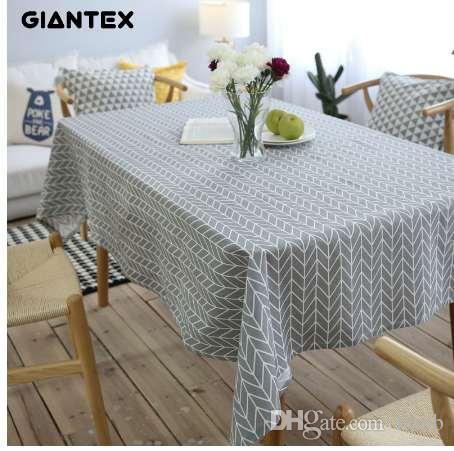 giantex pastoral arrow pattern decorative table cloth cotton linen rh dhgate com