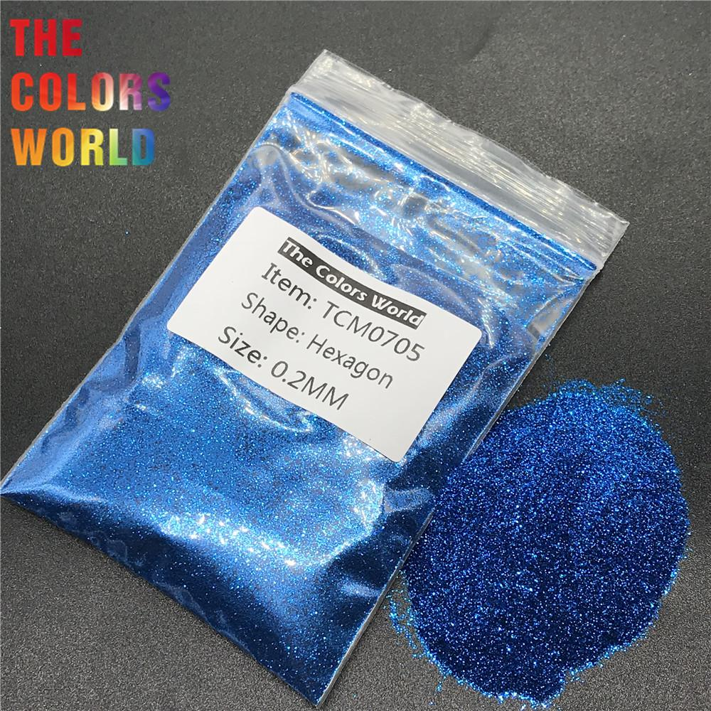 TCM0705 Cobalt Blue Color Metallic Luster Hexagon Shape Nail Glitter Nail Art Decoration Body Glitter Henna Tattoo Handwork DIY