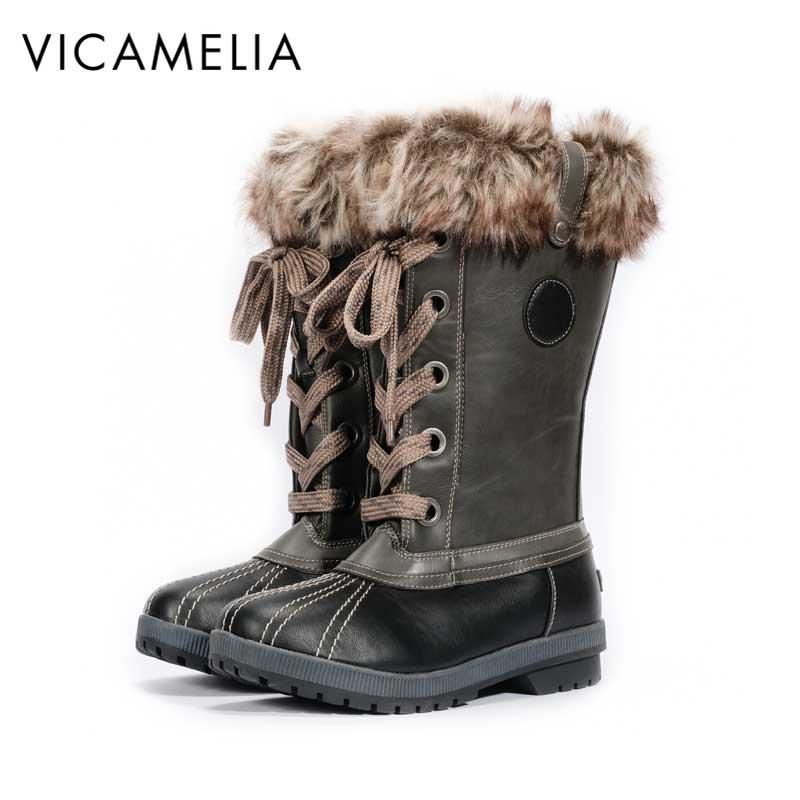 2015 New Women Winter Snow Boots Brand Rubber Duck Ankle