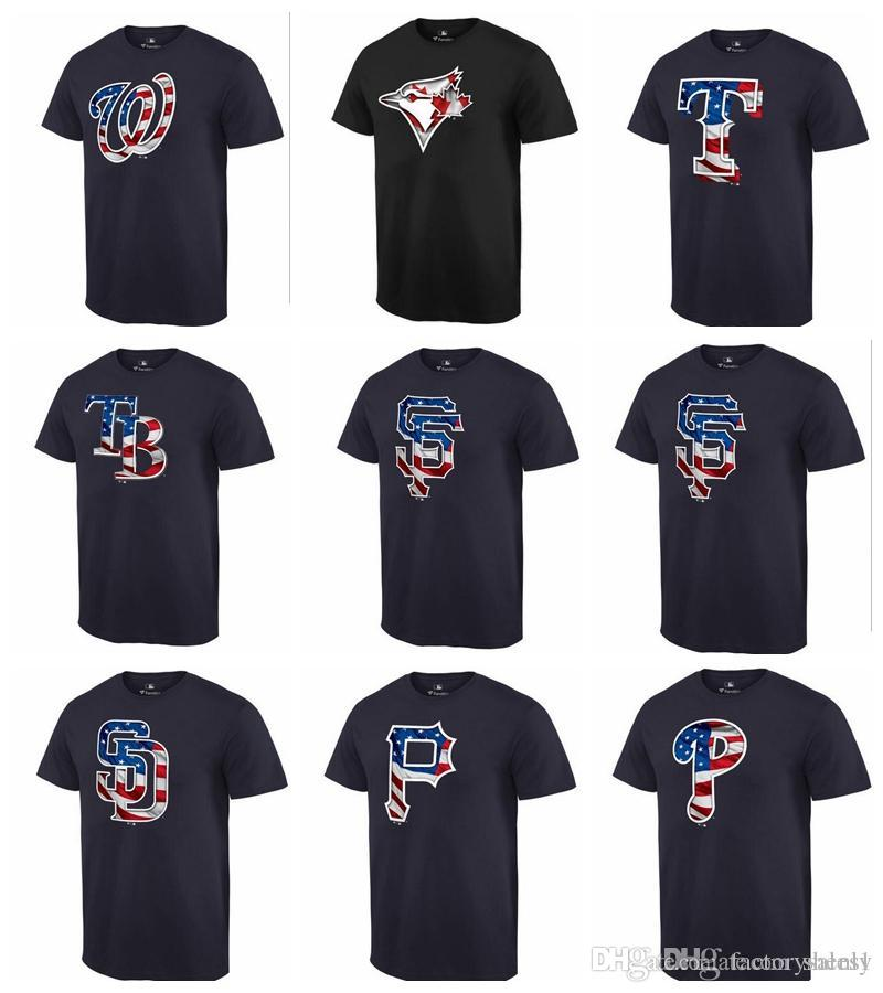 79aaa7bb2 NEW 2019 Men Phillies Pirates Mariners Padres Giants Navy Banner Wave T  Shirt Ringer T Shirts Political T Shirts From Mars1, $22.91| DHgate.Com