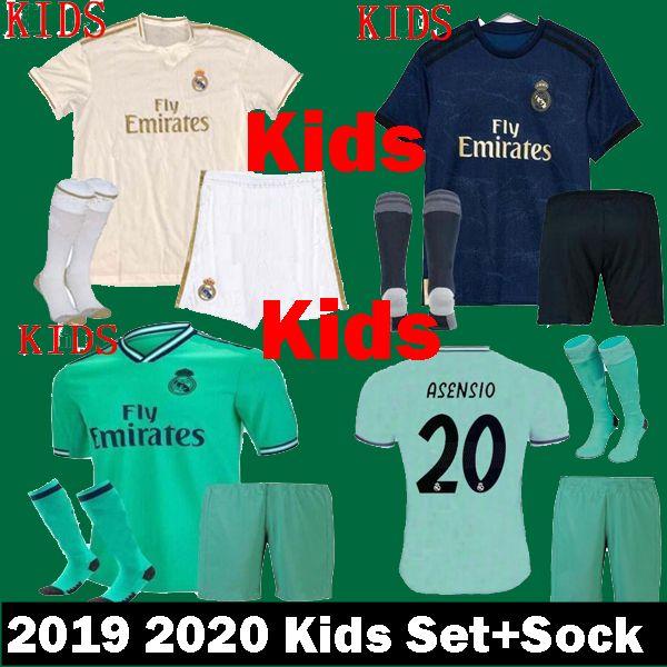 ef5ed2b9dd0 2019 Kids 2019 2020 Real Madrid Soccer Jerseys Kits Set ASENSIO SERGIO  RAMOS MODRIC MARCELO HAZARD Child Uniform Camisetas 19 20 Football Shirts  From ...