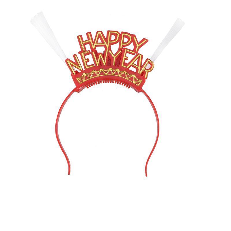 Christmas Led Light Up Happy New Year Flashing Headband Christmas
