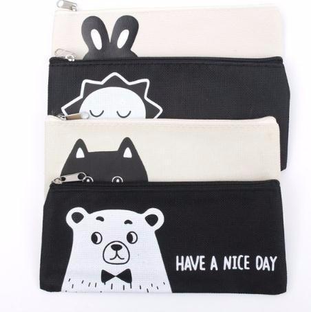 2018 pattern canvas square pencil bag korean version soft contracted rh dhgate com