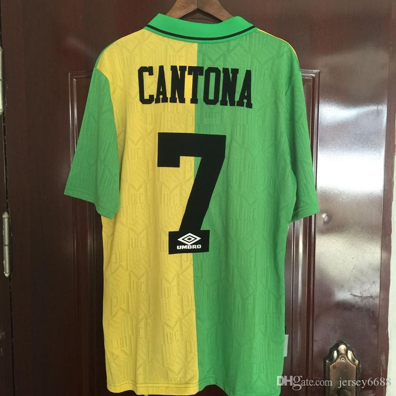 2019 1993 1994 Manchester United Retro Soccer Jersey 1993 1994 Cantona 7  UTD Soccer Jersey Classic Football Shirt Camiseta Maillot De Foot From  Jersey6688 0b57be568