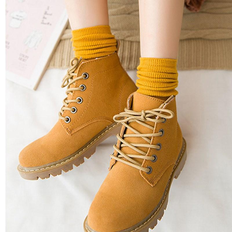 b823de9c7f Korean Style Cotton Women High Cut Socks Autumn Spring Warm Female ...