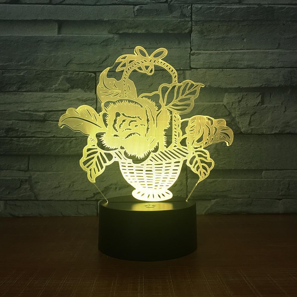 Veilleuse Lampe Chevet 2325 Cadeau Petite Électrique Insérer Bureau 3d Atmosphère Priser Originalité Télécommande Personnalisé Tactile bYgy6f7
