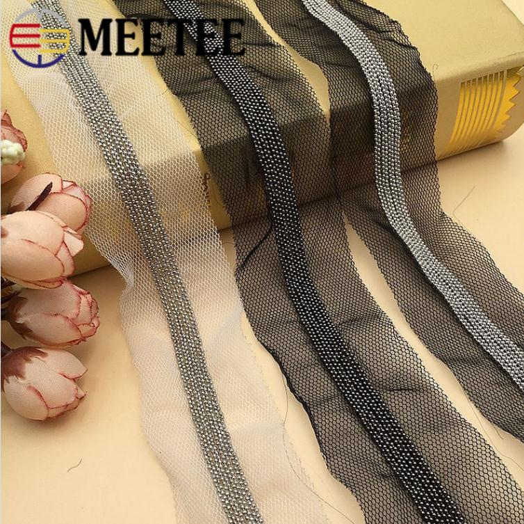 2019 meetee rc004 2 5meter 4cm chain beaded lace ribbon webbing diy rh dhgate com