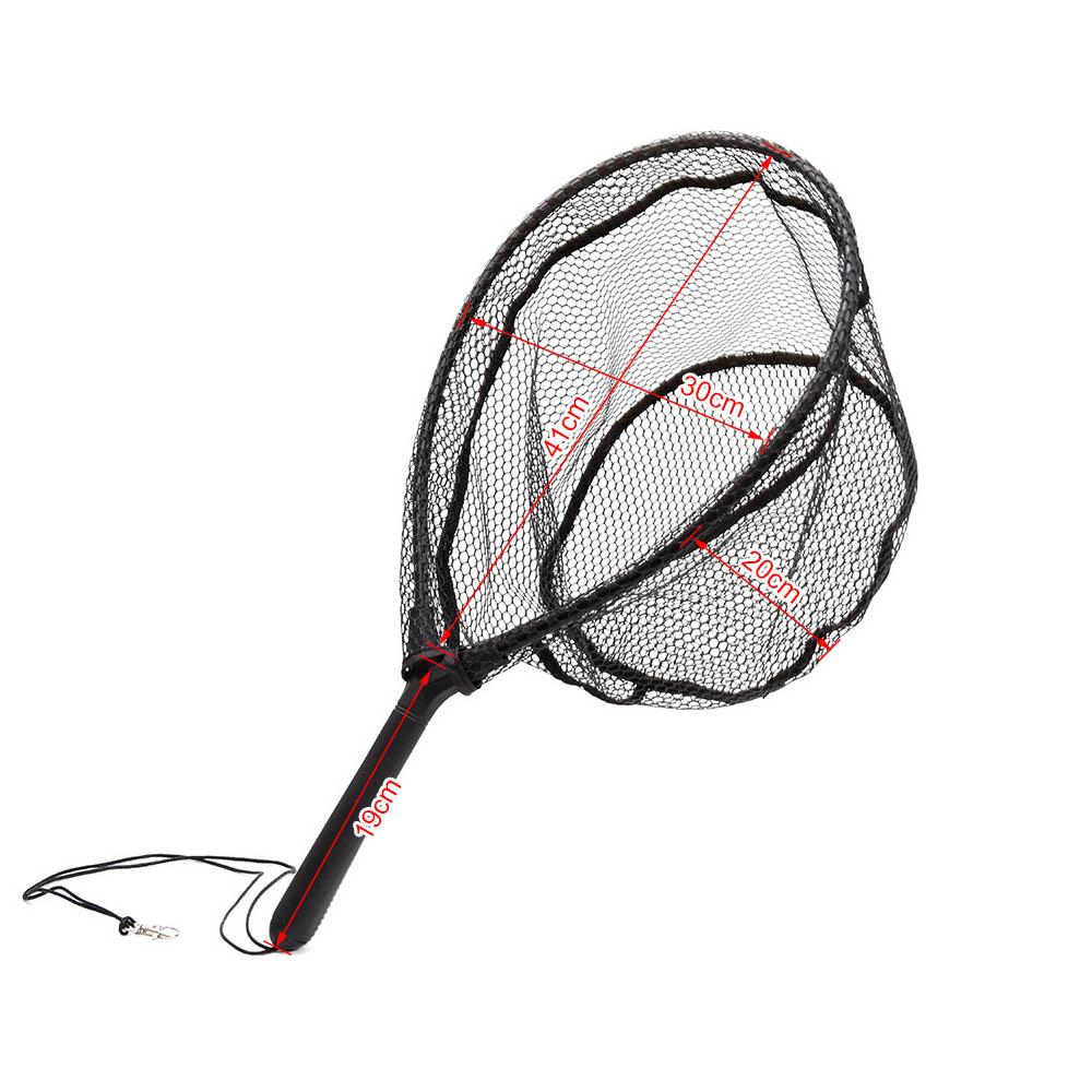 Sports & Entertainment Aluminum Alloy Pole Retractable Fishing Net Telescoping Foldable Landing Rubber Net For Fly Fishing Network Red