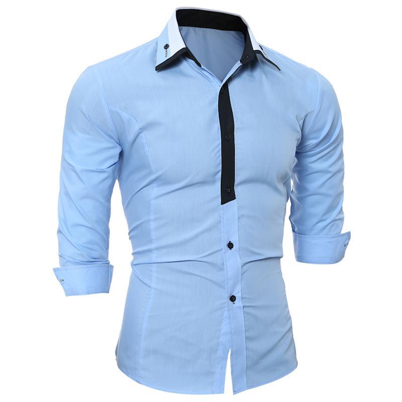 208015e3eb Compre 2H47 RUIKE Roupas De Manga Longa Social Magro Marca Camisa Masculina  XXL V89 De Wayoff