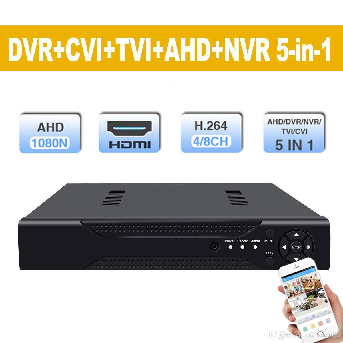8 Channel DVR Hybrid 5-in-1 Disk Video Recorder Support Analogy TVI CVI AHD  960H IP) H 264 CCTV 8CH Standalone DVR Metal shell