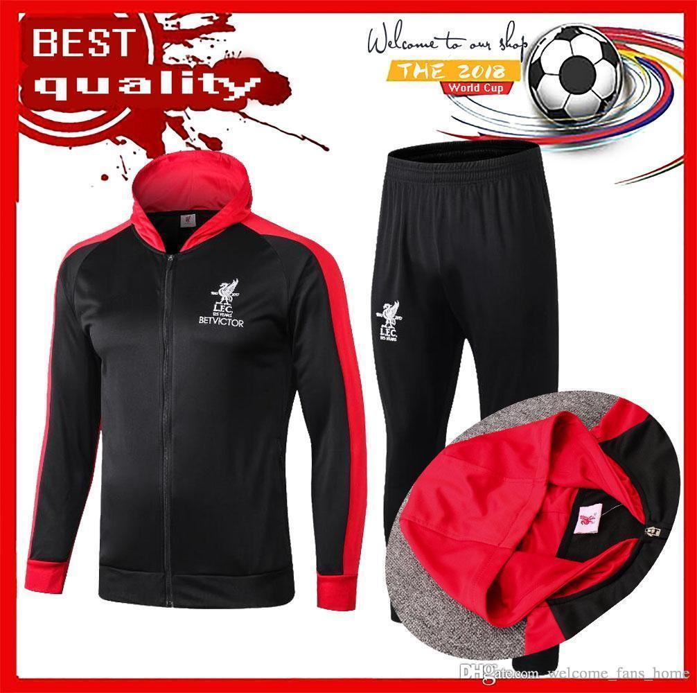 02e4337f #11 M.SALAH Jacket Tracksuitjerseys 18/19 #10 MANE Soccer Shirt 2019 #  8KEITA Football Uniforms Have Jacket Training Suit Size S-4XL M.SALAH  Jacket ...