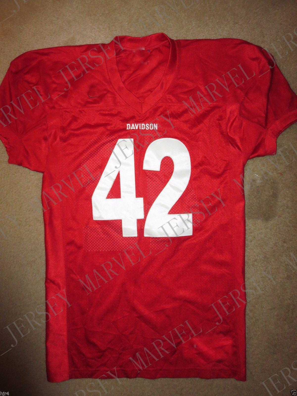 ceaab8897 Cheap Custom Davidson College Wildcats  42 NCAA Football Jerseys NEW Customized  Any Name Number Stitched Jersey XS-5XL Davidson College Wildcats Davidson  ...