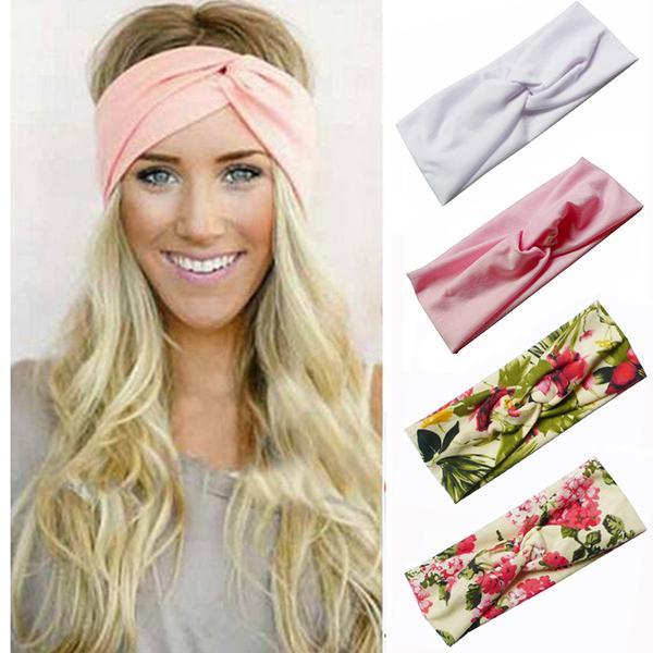 72 Colors Bohemia Twist Headbands BOHO Cotton Stretch Girls Turban Bandana Hair Accessories Bandage On Head Gum Hair Bands LE259
