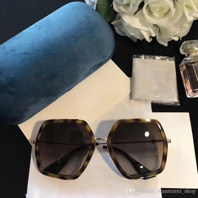0106S Luxury Sunglasses Women Designer Popular Sunglasses Frame Sunglasses Crystal Metarial Fashion Women Style Come With Pink Case