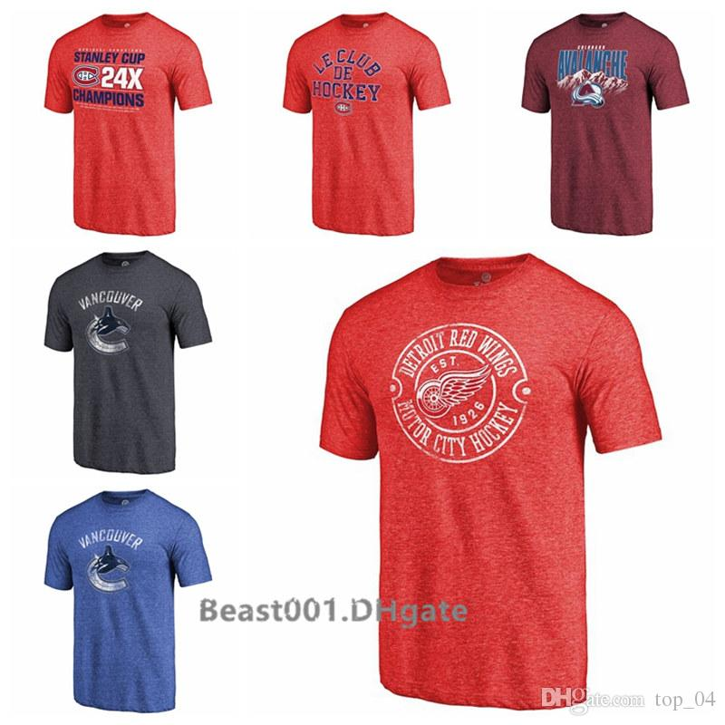 Men Women Youth Montreal Canadiens Colorado Avalanche Detroit Red Wings Vancouver Canucks Victor Tri-Blend T-Shirt
